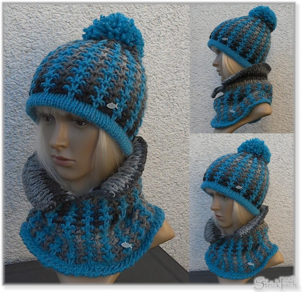 Kragen-Loop und Mütze – anders stricken