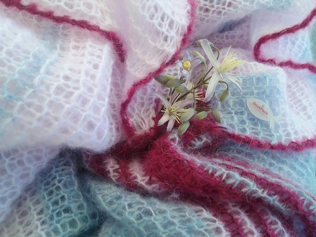 Tuch in Rose Quartz und Serenity