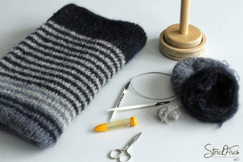 KAL / Knitalong Halbzeit Tweed-Schal