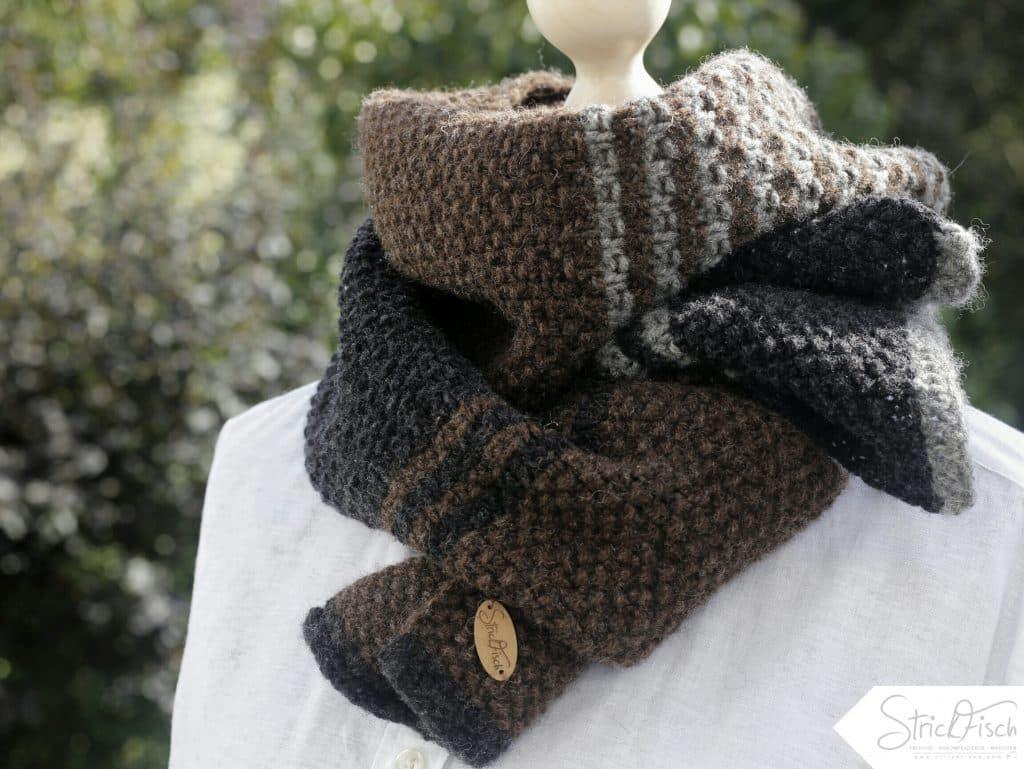 Super Herrenschal stricken / Schefers German Wool | StrickFisch PN14