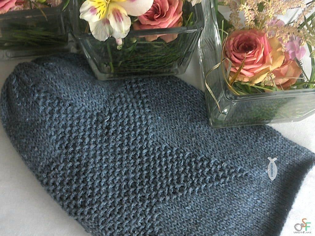 Jeans-Beanie aus recycelter Baumwolle